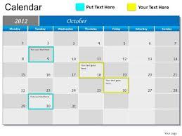 powerpoint calendar templates great printable calendars