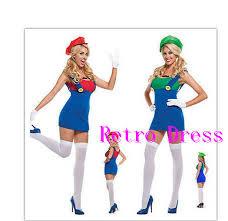 Mario Womens Halloween Costume Cheap Super Mario Luigi Halloween Costumes Aliexpress