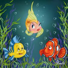 cleo pinocchio meets flounder the little mermaid u0026 nemo