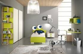 bedroom cheerful kid grey lime green bedroom decoration using