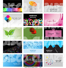 music clip art of a digital collage of 15 business card template