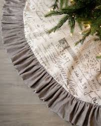 monogram initial christmas tree skirt at horchow silver belles
