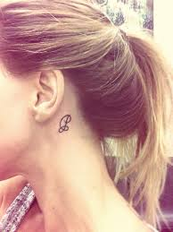 Tattoo Ideas For Behind Ear Behind Ear Letter P Tattoos Pinterest Tattoo Piercings And