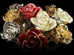 Gold Dipped Roses Gold Roses Luxury 24k Gold Customisation