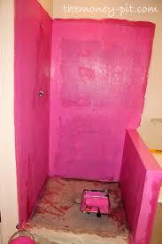 Waterproof Plaster For Bathroom Master Bathroom Days 11 13 Shower Curb Waterproofing And Floor