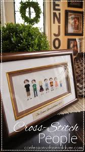 hand made gift idea cross stitch people confessions of a serial