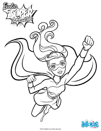 barbie super power 5 coloring pages hellokids com