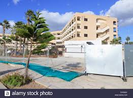 hotel in construction paphos cyprus stock photo royalty free
