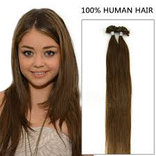 18 inch extensions inch 8 ash brown nail u tip fusion hair extensions 100