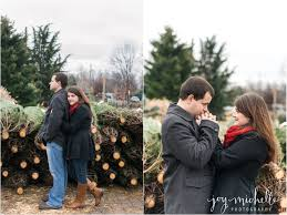 maryland tree farm christmas engagement session engagement