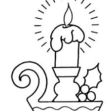 christmas candle window coloring pages christmas candle