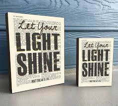 Bible Verses For The Home Decor Let Your Light Shine Matthew 5 16 Vintage Bible Verse Scripture