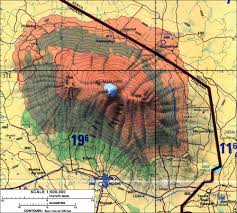 Topographic Map Of Colorado by Topographic Map Of Mount Kilimanjaro 40th Bday Pinterest