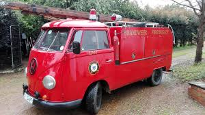 vw truck 1960 u0027s vw split screen fire truck red black interior classic