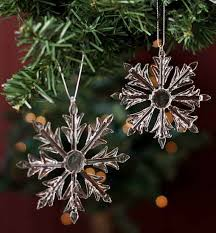 glass snowflake ornaments ornaments
