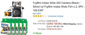 amazon black friday code fujifilm instax 300 amazon canada deals of the day save 72 on here u0027s lucy the
