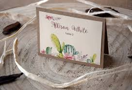 wedding place cards cactus wedding place cards personalized nature place cards