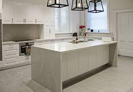 Kitchen Benchtop Ideas Kerry Selby Brown Design Featuring Caesarstone Alpine Mist Island