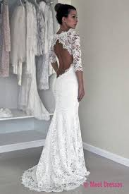 open back wedding dresses sleeve lace open back mermaid wedding dresses 2018