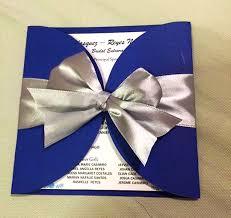 Royal Blue Wedding Invitations La Grazia Project