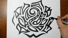 tribal hearts and roses large tribal heart tattoo sketch