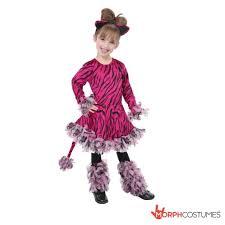girls pink tiger fancy dress size m 8 10 yrs cheap halloween