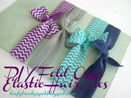 ribbon hair ties made by me shared with you tutorial diy fold elastic hair