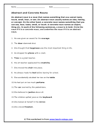 abstract noun worksheets free worksheets library download and