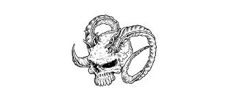 to draw evil vector skulls in illustrator
