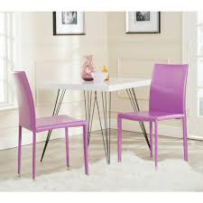 Purple Dining Room Purple Chaired Dining Table Inviting Home Design