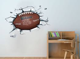 nfl football ball sticker on the wall decal effect nfl football ball sticker on the wall decal effect