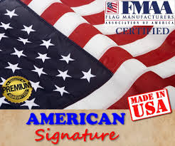 Flags Made In Usa Amazon Com American Flag 2 5 X 4 Ft Made In Usa By Fmaa Certified