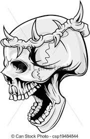 skull with crown illustration of skull wearing crown of eps
