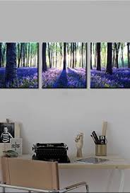 Lavender Home Decor Canvas Wall Art 3 Panels Canvas Prints