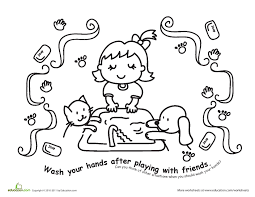 hand washing coloring pages 24169 bestofcoloring com