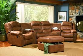 home theater seating sectional rust specially treated microfiber home theater seats w recliners