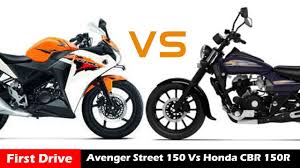 honda cbr series price bajaj avenger street 150 vs honda cbr 150r comparison first drive