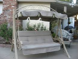 Wrought Iron Patio Swing by Patio 55 Patio Swing Patio Swing Canopy Frame Replacement