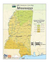Map Of Ms State Maps Of Usda Plant Hardiness Zones