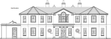 georgian style home plan distinctive house east elevation