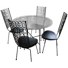 Iron Patio Table And Chairs Arthur Umanoff Wrought Iron Patio Set Table And Four Chairs At