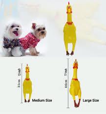 shrilling rubber chicken jokes toy dog pet screaming chicken for