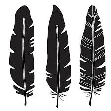 turkey feather tattoo silhouette clip art vector images