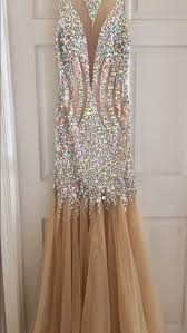 dress prom dress prom gown prom fit and flare dress champagne