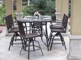 Patio Height Dining Set - pebble lane living 7 piece handwoven outdoor wicker patio bar