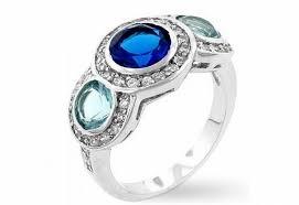 Diamond Sapphire Wedding Ring by White Gold Rings Three Stone Dark And Light Blue Sapphire Wedding