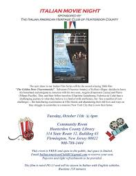 Blind Watchmaker Pdf Movie Night Italian American Heritage Club Of Hunterdon County