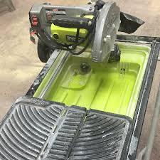 sliding table tile saw ryobi sliding table tile saw t work rent tools equipment in