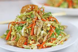 napa salad light crispy chicken salad dinner then dessert