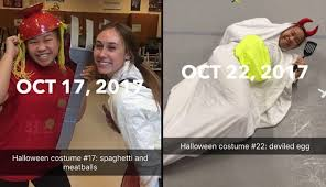 Internet Meme Costume Ideas - high schooler wins the internet for her 31 days of halloween